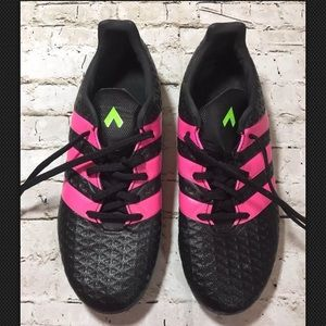 Men's Adidas Soccer Cleats Black Pink Sz 6